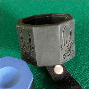Cueduster's Skull & Crossbones Octagon Billiards Chalk Holder Top